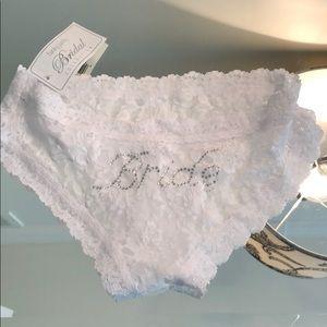 Tags on bride panties